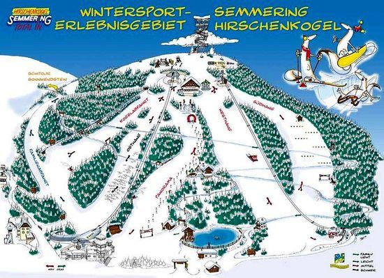 Карта горнолыжного курорта ЗЕММЕРИНГ Австрия
