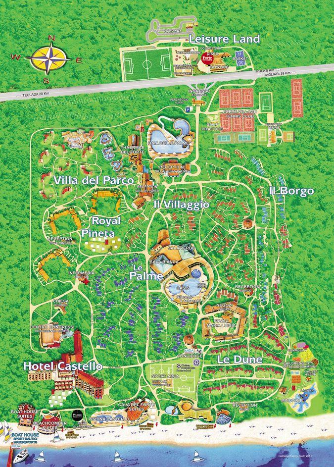 Карта курорта Forte Village Resort 5*