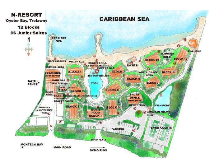 hedonism resort map - 675×537