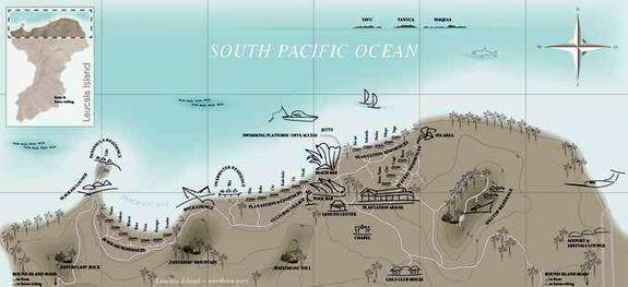 Подробная карта LAUCALA ISLAND RESORTS