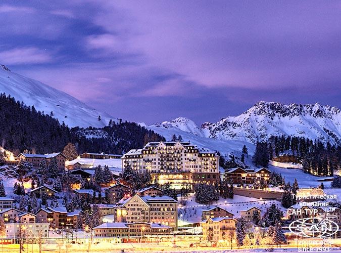 Санкт-Мориц - самый известный и фешенебельный курорт Швейцарии